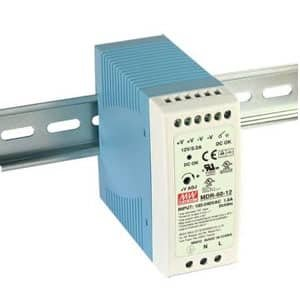 Power Supply 24 vdc din rail mount + din rail