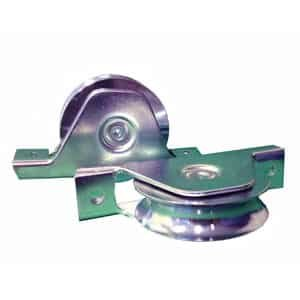 Sliding gate recessed wheels